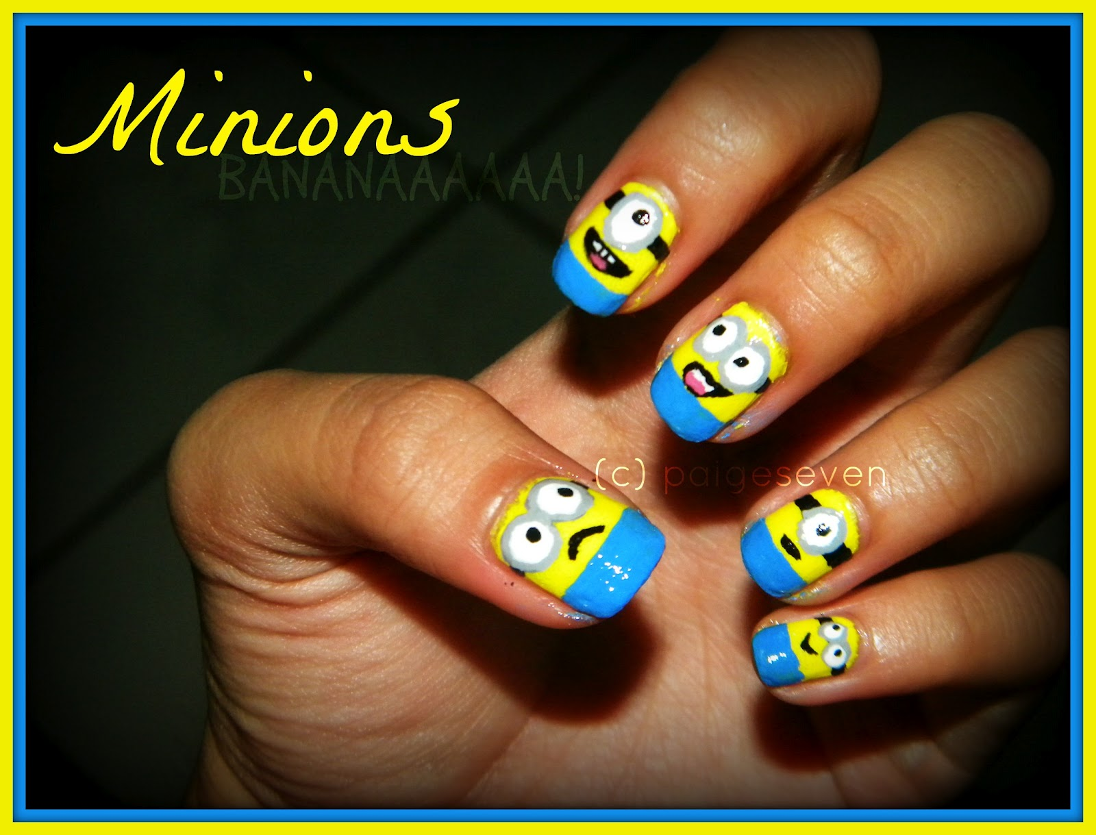 Sweet Little Bits: Minions On My Nails. BANANAAAA!