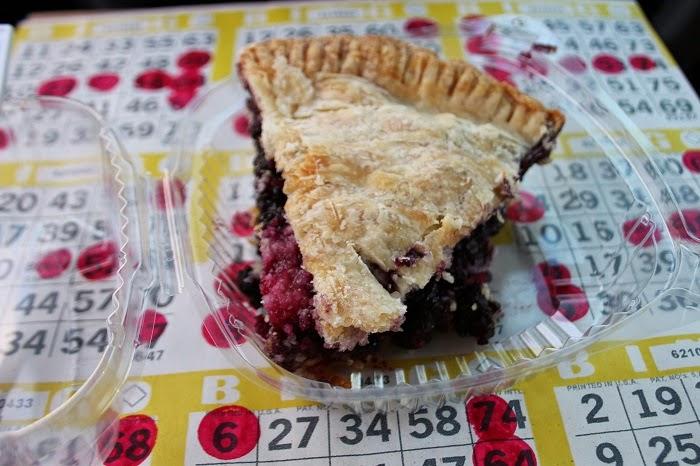 carp fair drive-in bingo; bingo cards; carp fair agricultural society; pie; carp fair