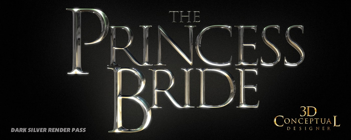 3dconceptualdesignerblog Project Review The Princess Bride Key Art 3d Logo Main Title Build Blue Ray Packaging 2014