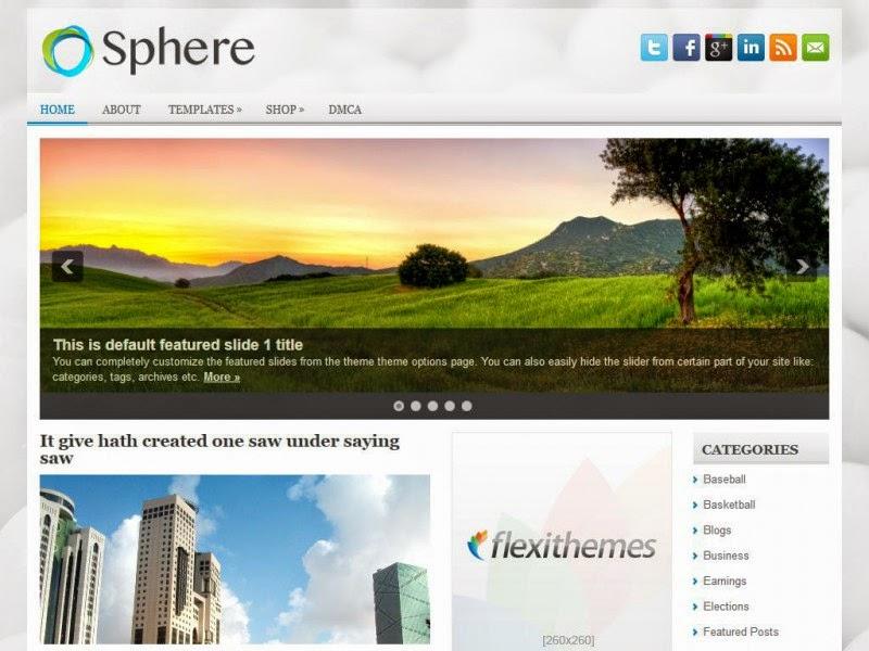 Sphere - Free Wordpress Theme