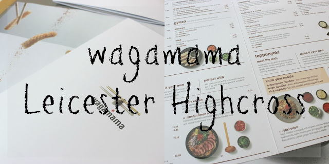 A picture of the new Wagamama menu at Leicester Highcross