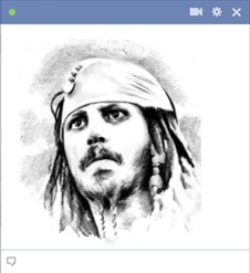 emoticon captain jack sparrow johnny depp