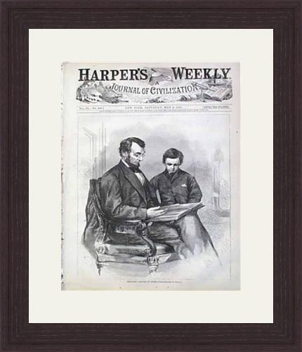 president lincoln framed up beautifully in quarter sawn oak from our artscrafts collection