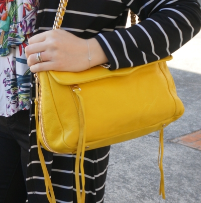 Away From Blue Blog | Rebecca Minkoff Swing bag in canary yellow