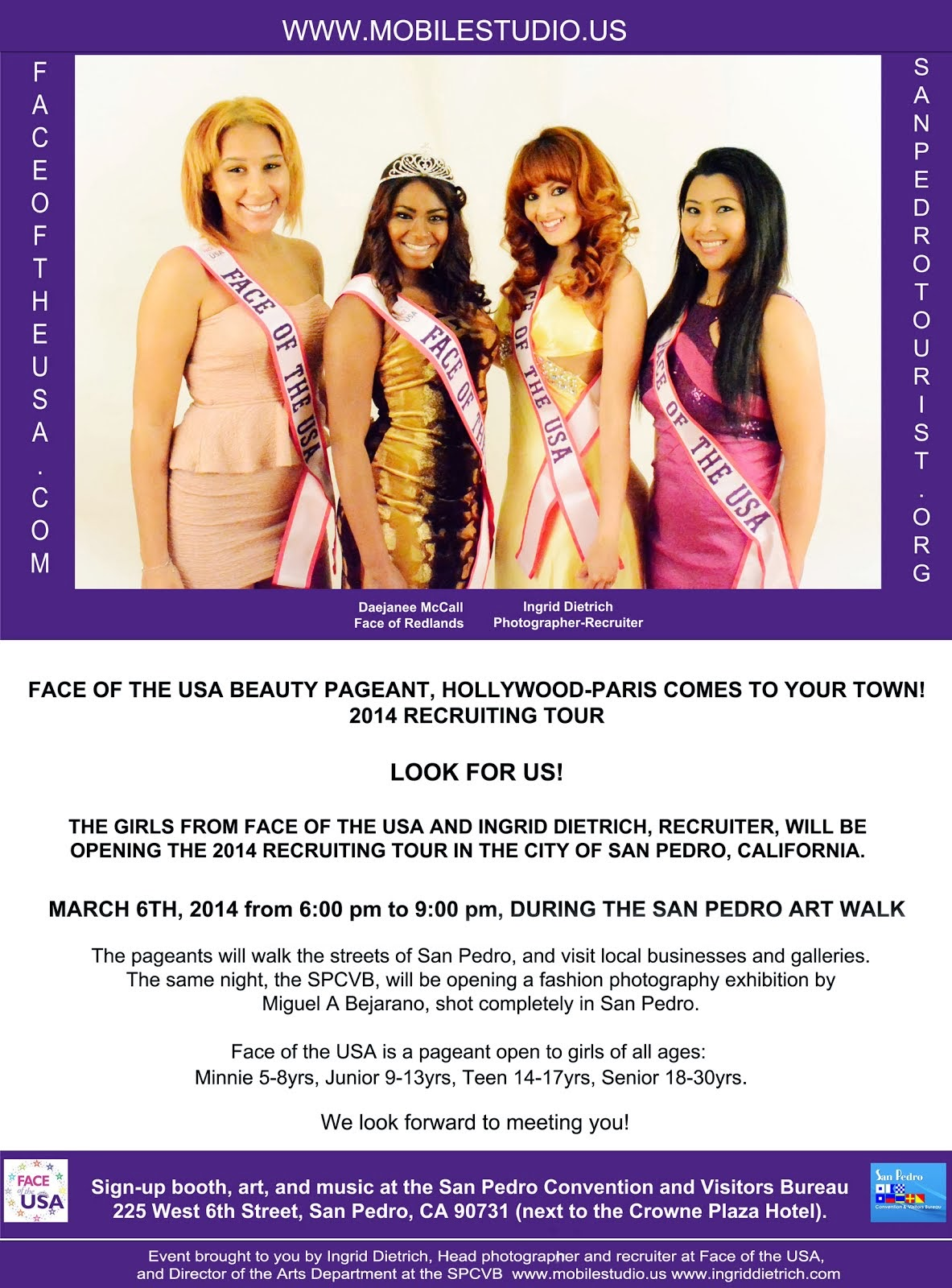 Beauty Pageant Tour opens in San Pedro,CA