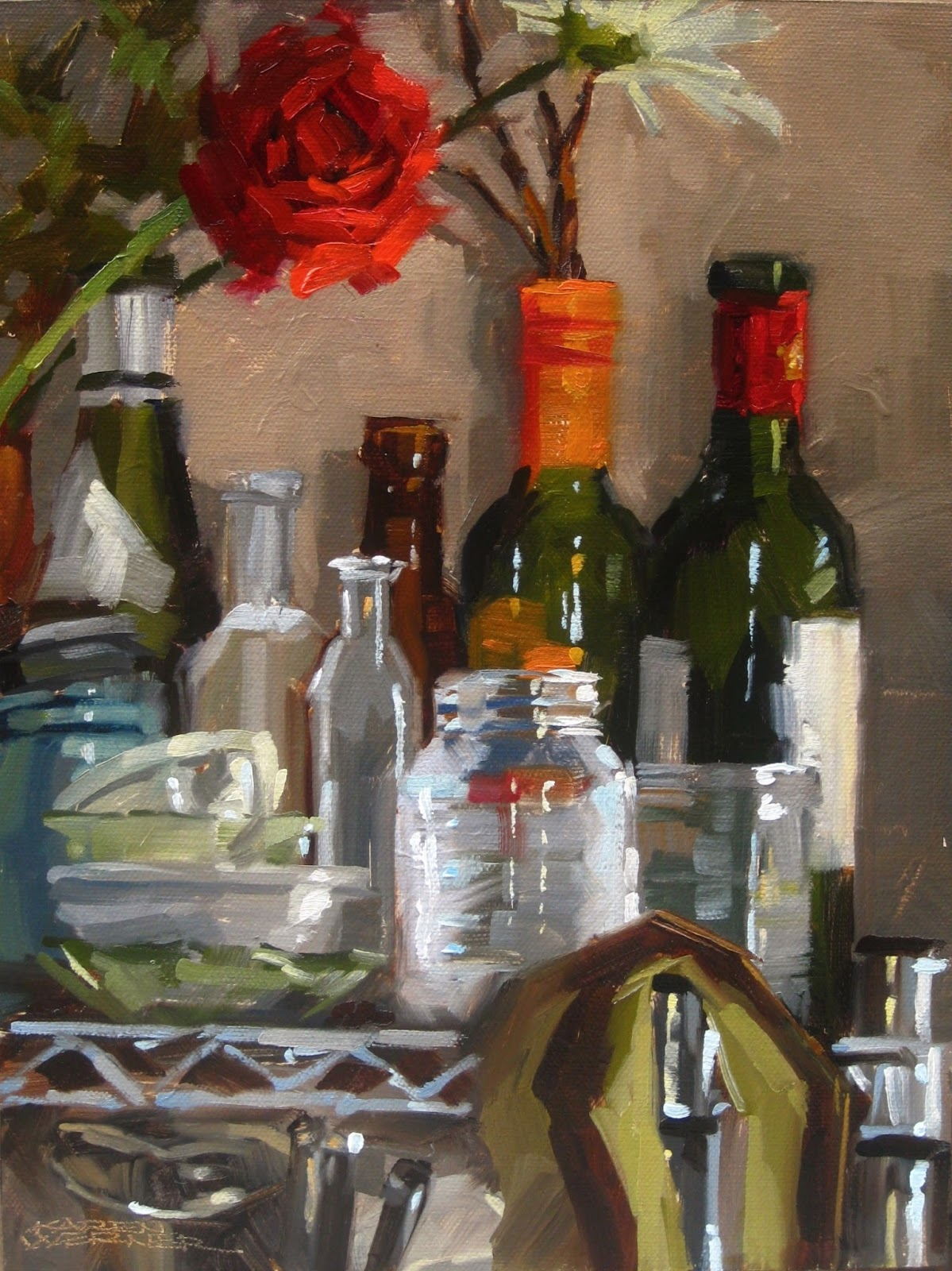 Karen werner fine art top shelf a still life painting in for Shelf life of paint