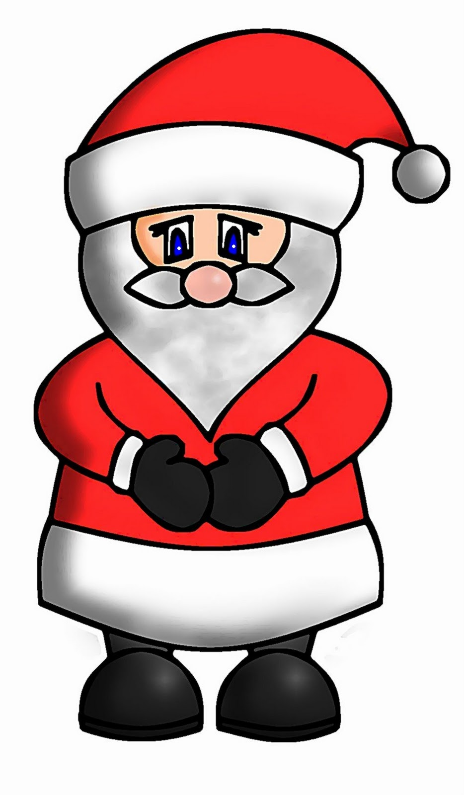 how to draw cute santa
