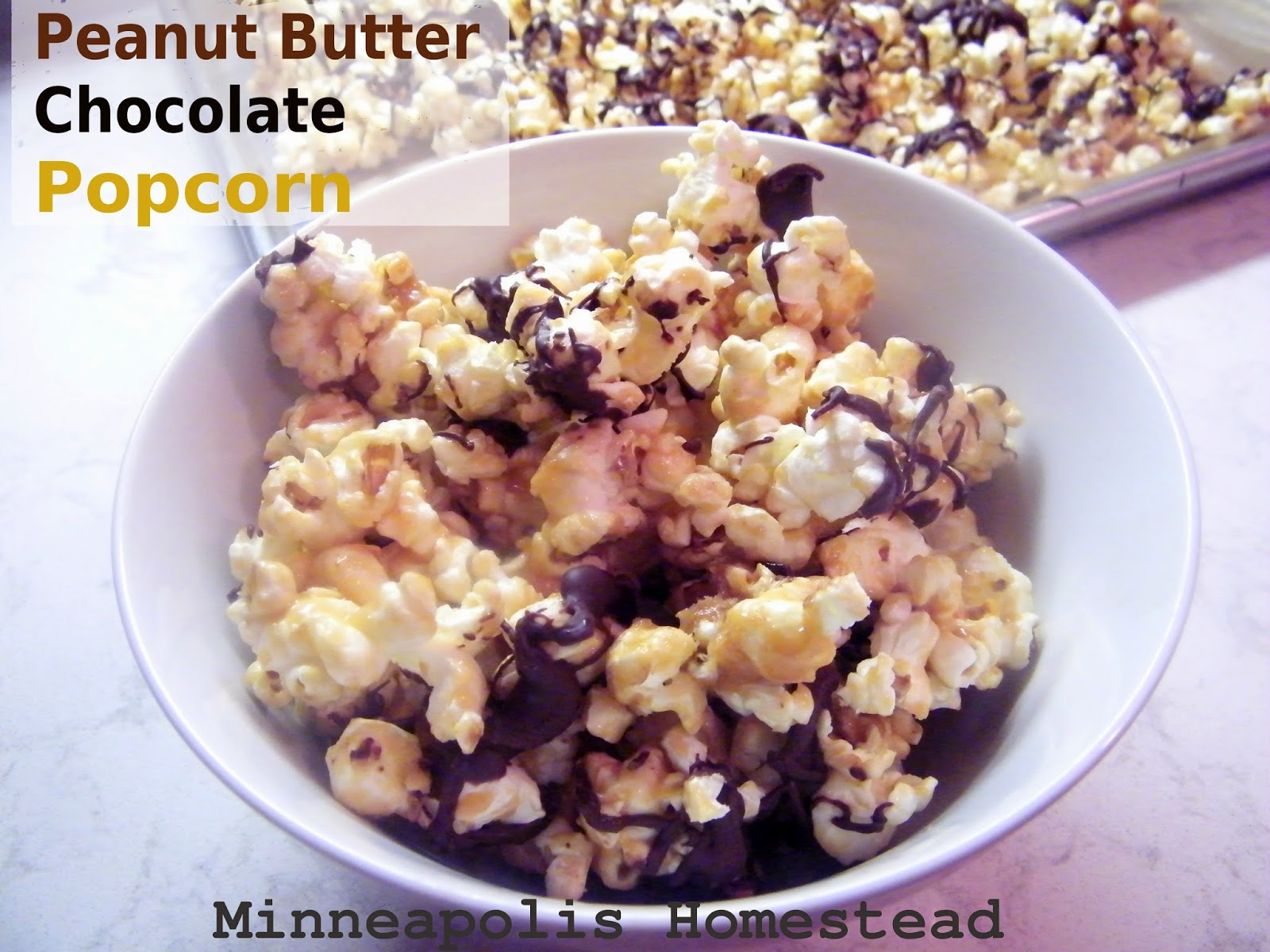 peanut butter popcorn is so easy to make from home this popcorn ...