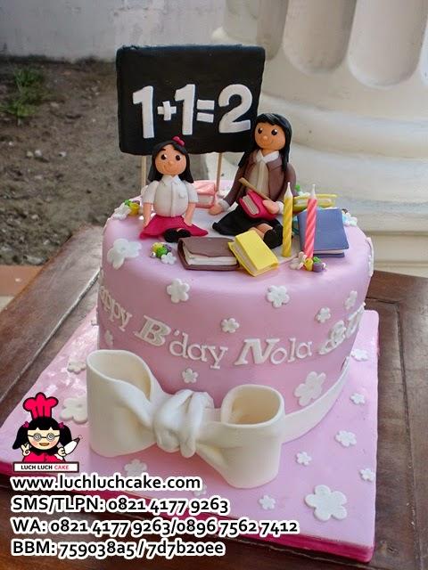 Kue Tart Tema Guru Daerah Surabaya - Sidoarjo