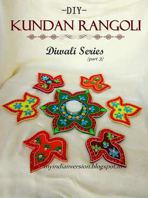 DIY Kundan Rangoli - Diwali Series(part 3)