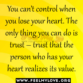 You can't control when you lose your heart
