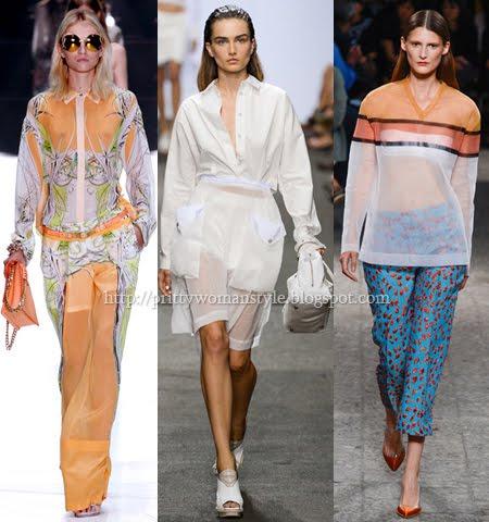Прозрачни дрехи модни тенденции пролет-лято 2013