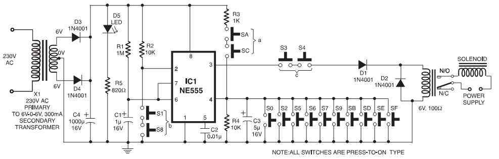 electronic code lock circuit diagram electronic get free image about wiring. Black Bedroom Furniture Sets. Home Design Ideas