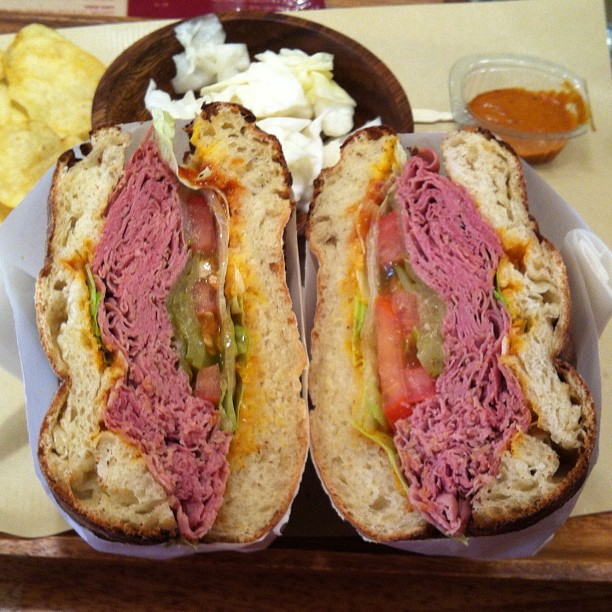 a display of corned beef sandwich awesomeness