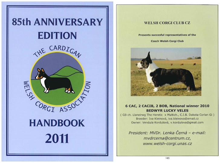 Aktuální ročenka Welsh Corgi Association Handbook, kde Black reprezentuje Český WCC klub.
