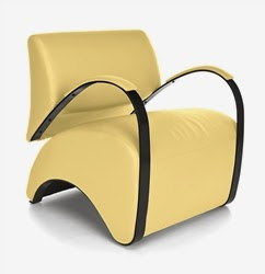 OFM Recoil Lounge Chair in Yellow