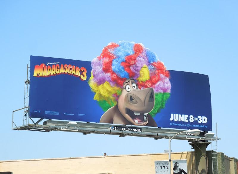 Madagascar 3 Hippo Gloria billboard