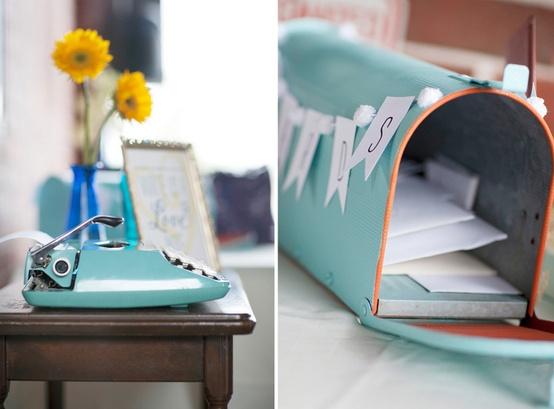 Oh mywedding buzones y postales en vuestro libro de firmas mailbox wedding - Buzon vintage ...