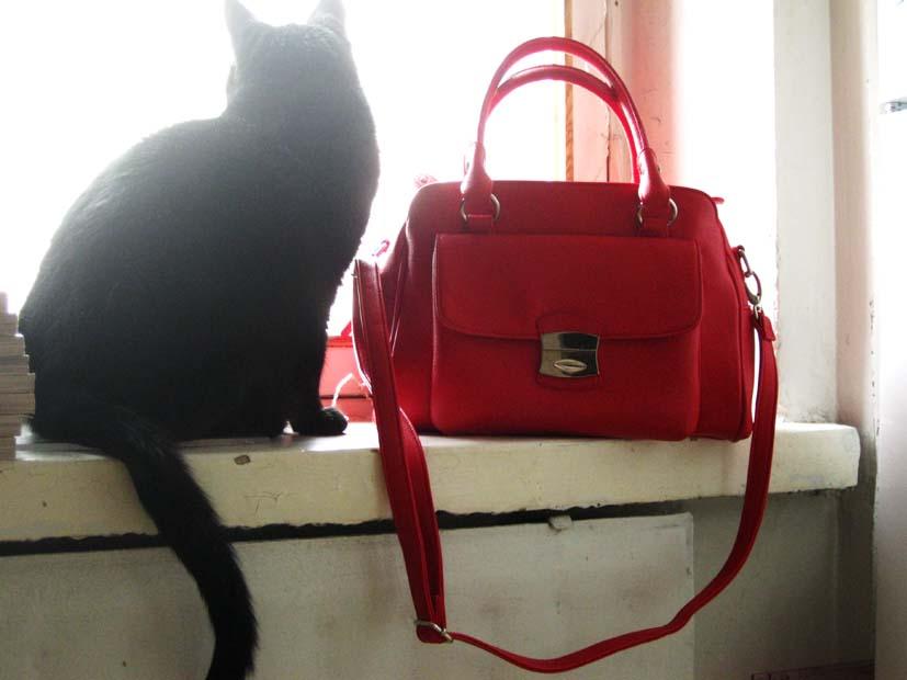 Punainen Chanel Laukku : Blandad punainen laukku