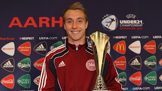 christian eriksen, road to euro 2012
