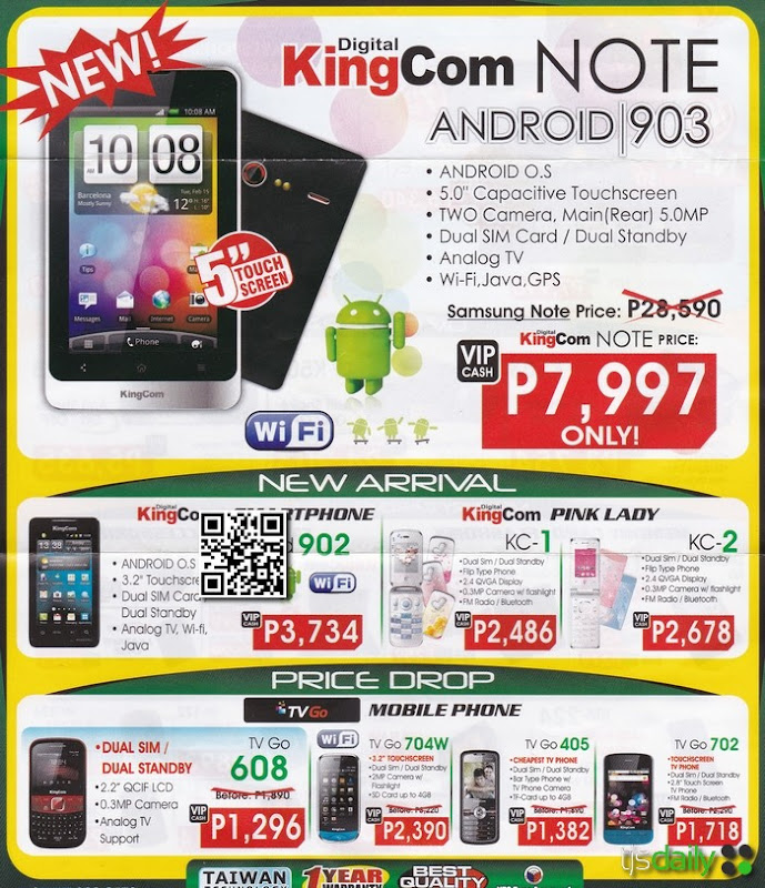 kingcom android smartphone cellphone price list 2012
