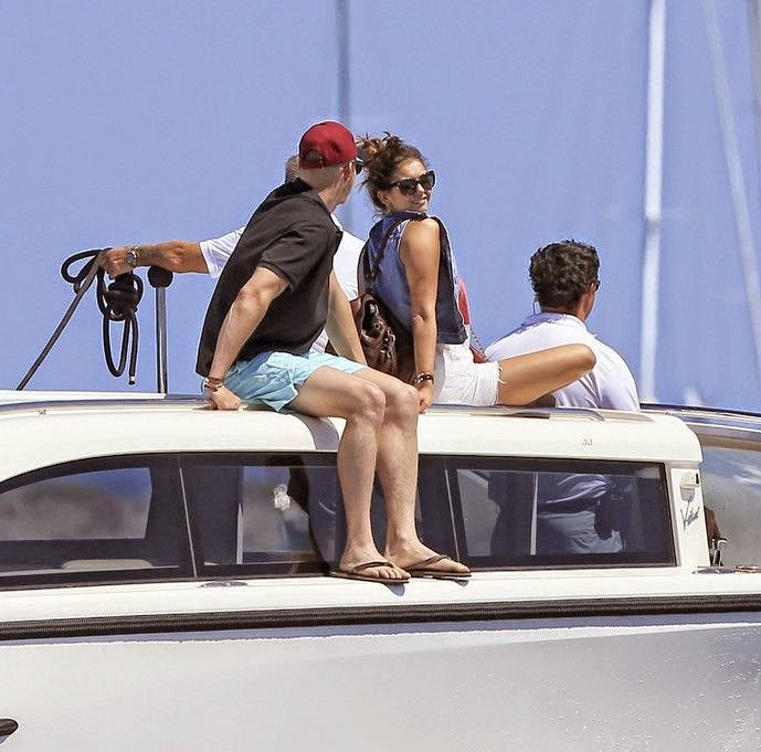 Nina Dobrev ordinarily displaying her amazing anatomy in a black bikini as she enjoying her vacation on a yacht with Alexader Ludwig in Ibiza on Friday, August 22, 2014.