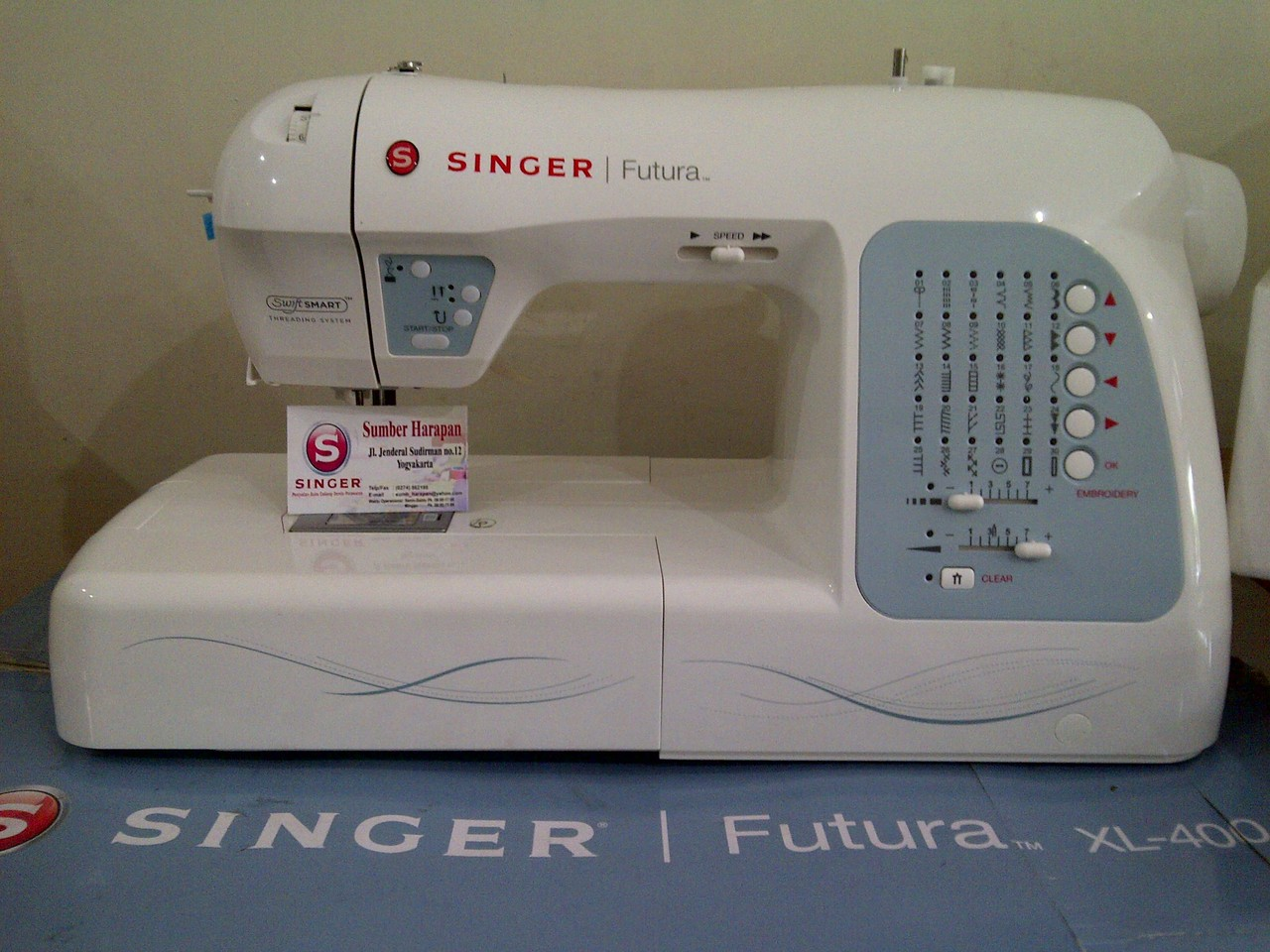My new business embroidery and sewing