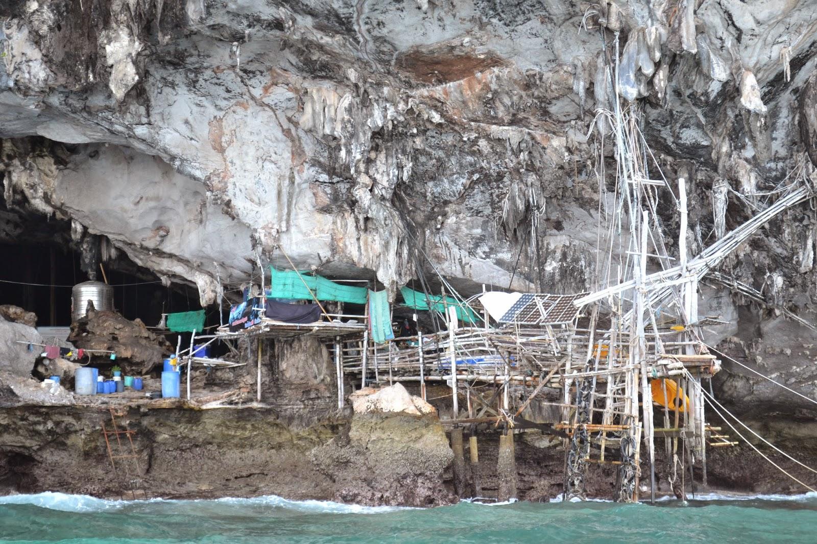 gitans de la mer, nids d'hirondelle, kho phi phi, kho phi ley, thailande