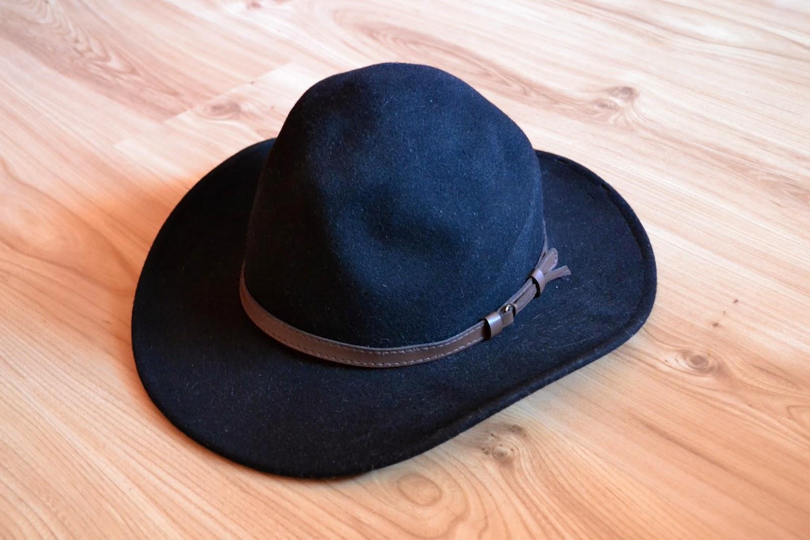 czarny kapelusz, kapelusz zara