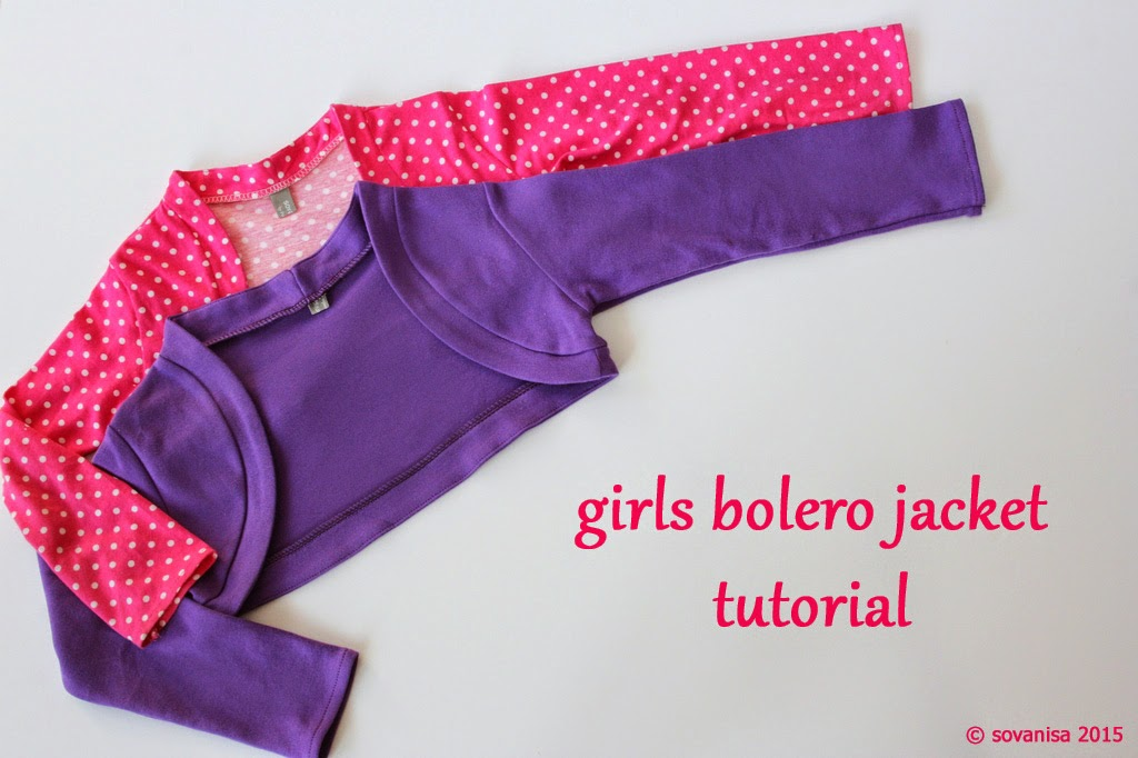 Sewing pattern for bolero