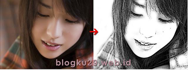 Mengubah foto kebentuk sketsa dengan teknik poster edge