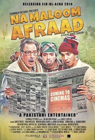 Poster Of Na Maloom Afraad 2014 Pakistani Movie 400MB WebHD 480p ESubs Free Download Watch Online