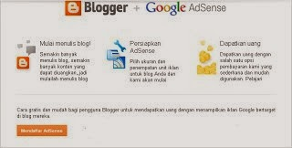 cara daftar adsense via blogspot