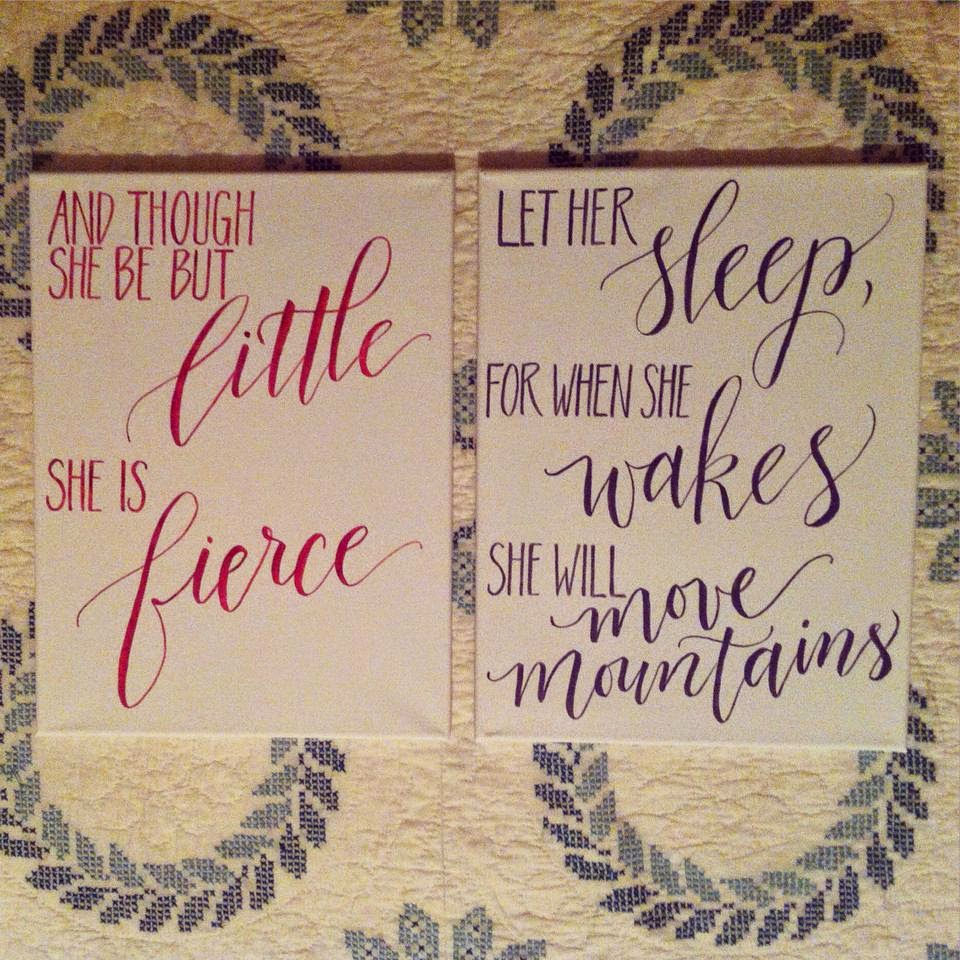 calligraphy nursery baby girl