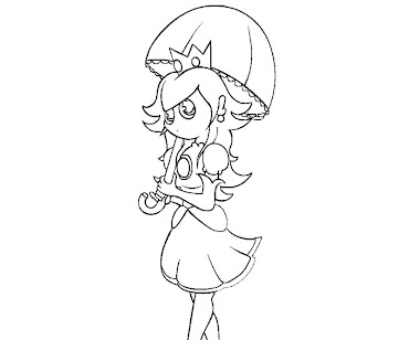 #9 Princess Peach Coloring Page