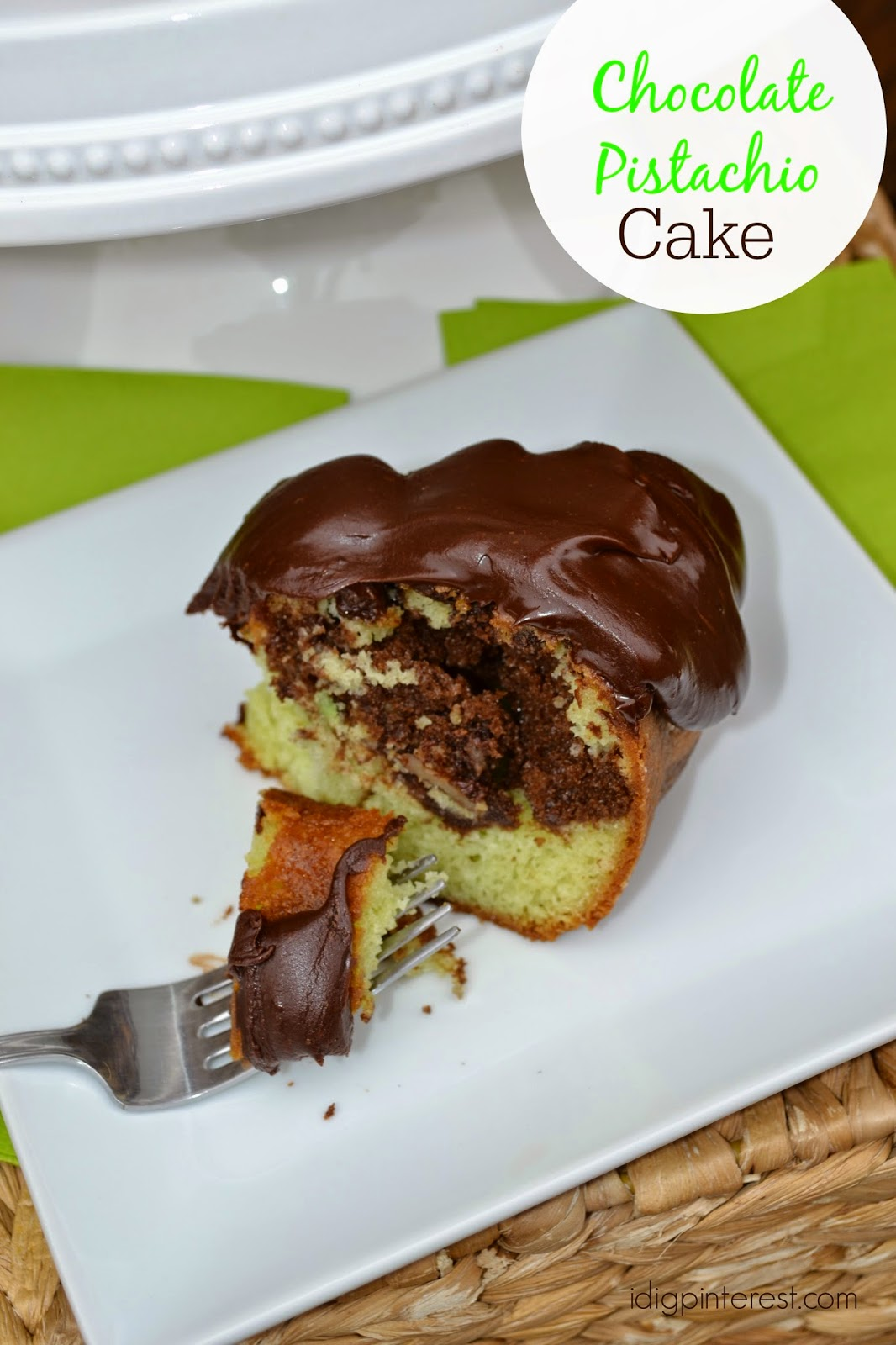Chocolate Pistachio Cake Recipe — Dishmaps