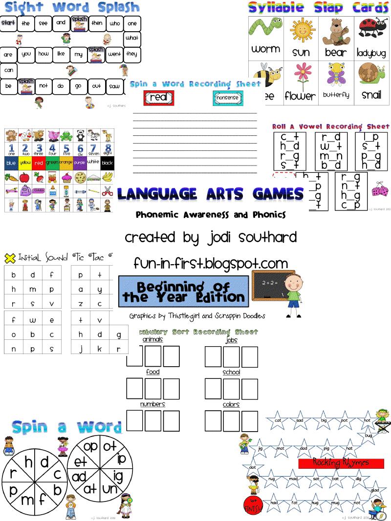 Fun Back to School Games - Fun in First