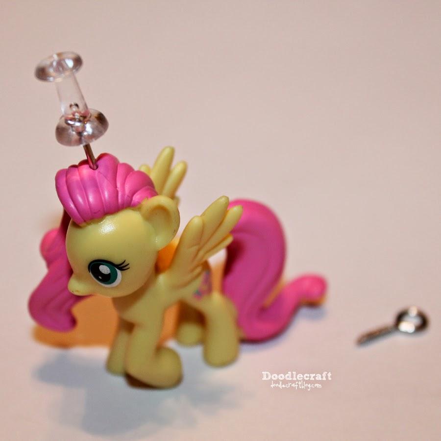 Doodlecraft blind bag fluttershy pony necklace for My little pony craft ideas