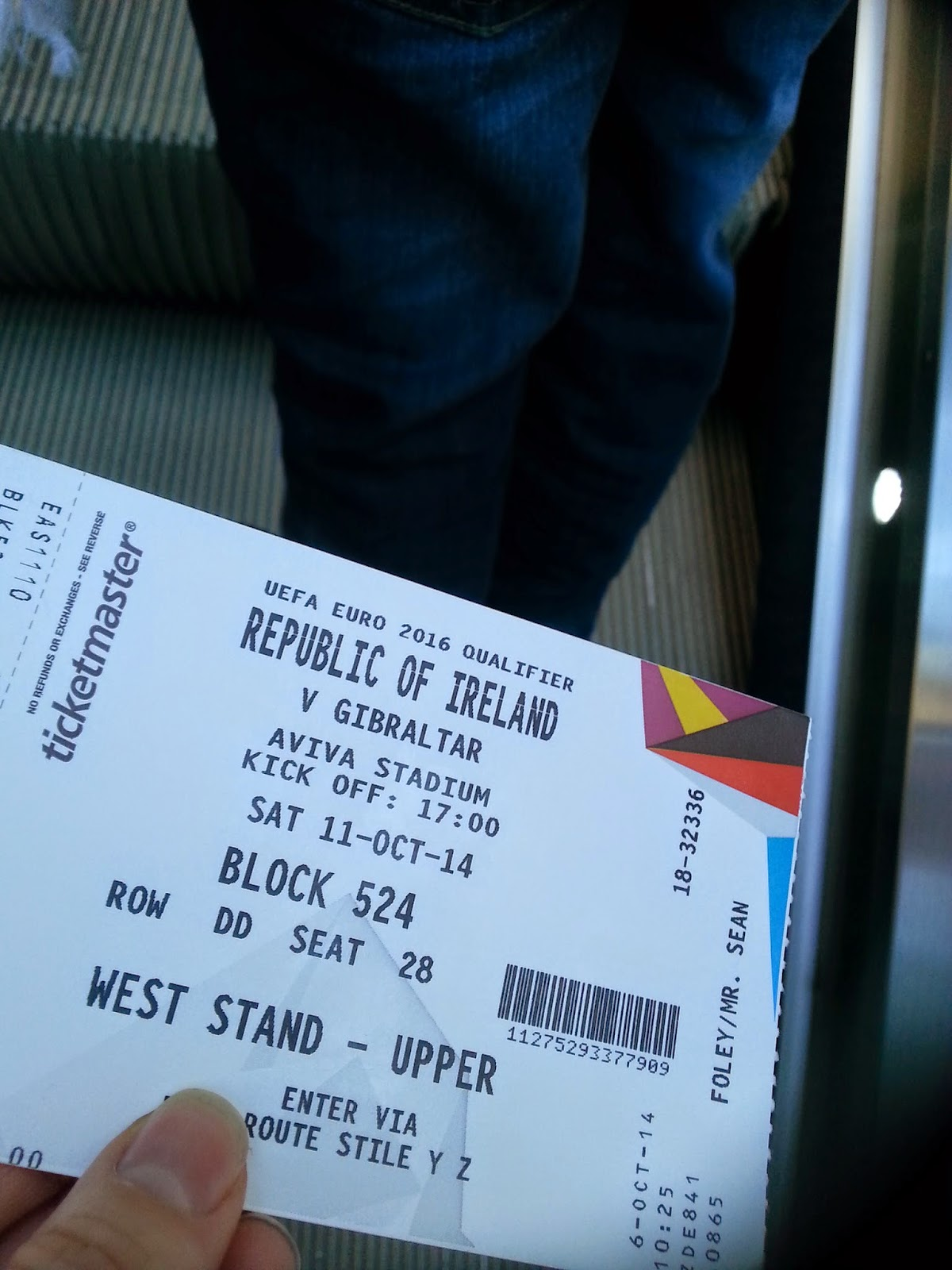 ireland v gibraltar ticket dublin aviva stadium