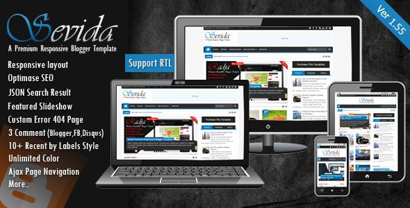 Free Download Sevida v.155 Premium Responsive Blogger Template