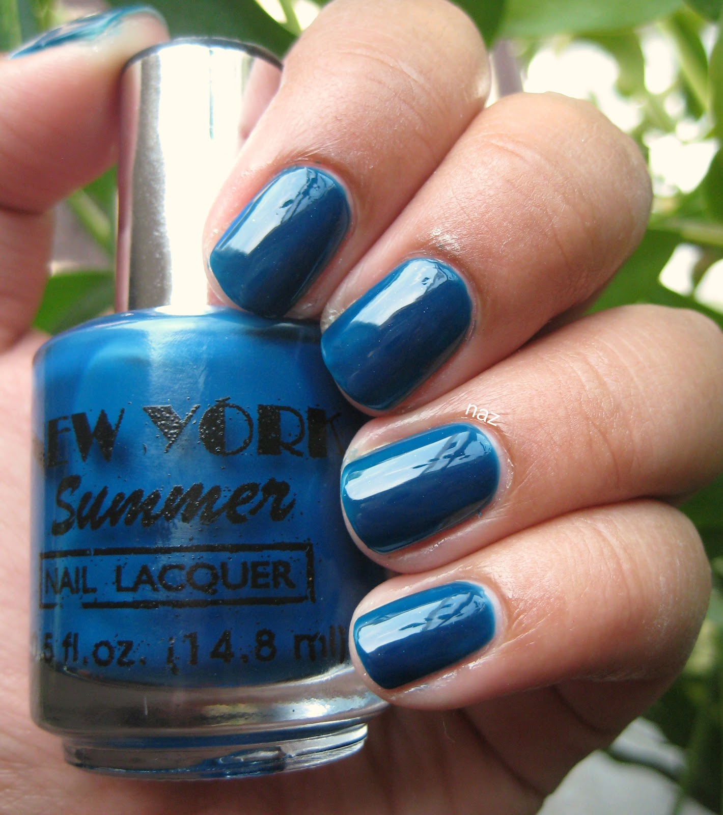 Naz\'s Nails: New York Summer Hot Sky Blue + Nails Inc. the Wyndham
