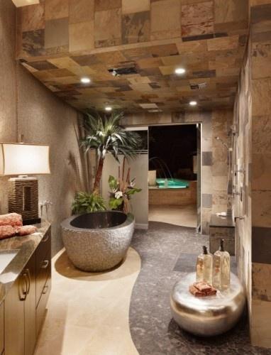 Boiserie c arredare un bagno come una spa - Bagno stile spa ...