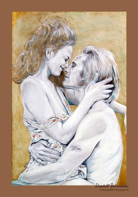 double portrait Viggo Mortensen Diane Lane a walk on the moon le choix d'une vie amoureux lovers amour love tendresse tenderness