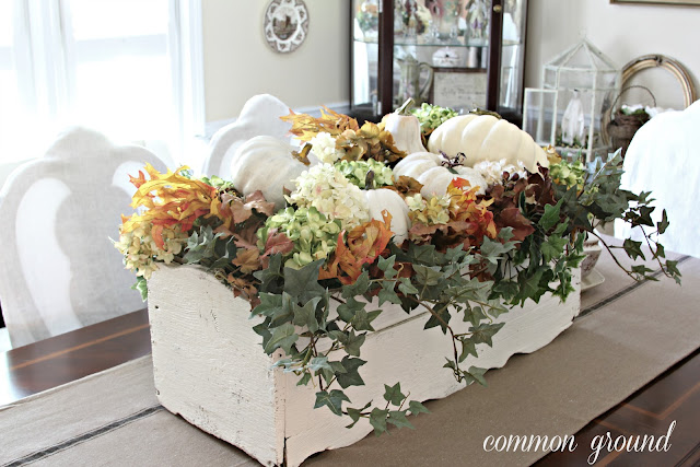 Common ground window box centerpiece for fall