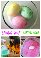 Baking Soda Easter Eggs - Try this fun way to decorate eggs using baking soda and vinegar.