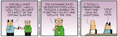 "Wally Becomes Chief Economist for Dilbert, Predicts ""Bubble in Monetary Policy"""