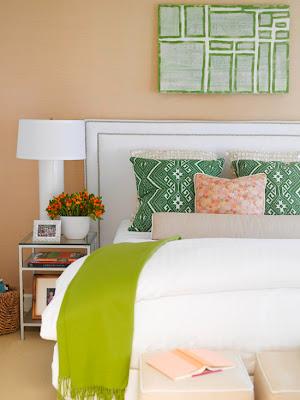 decoración cuarto verde