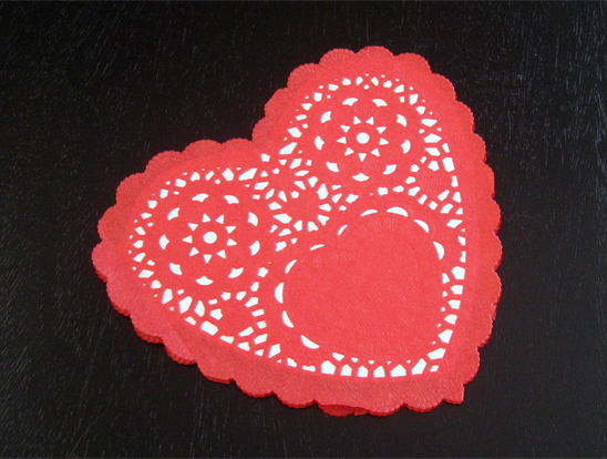 Jany Claire Baby footprints heart card perfect for Valentines Day