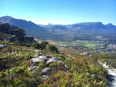 the back of table Mountain with devil speak