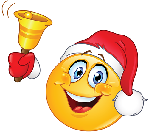 Christmas Smiley Ringing A Bell Symbols Emoticons